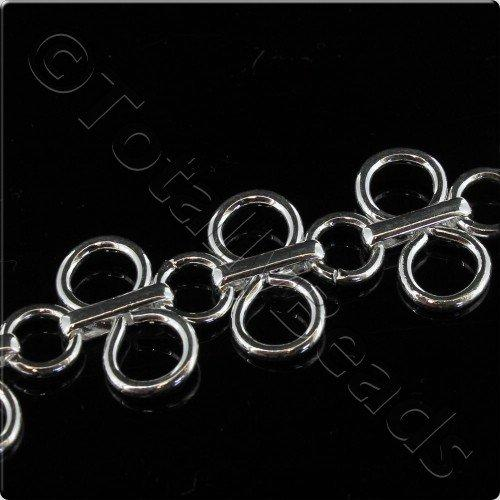 Figure 8 Large Chain 40cm - Silver Plated