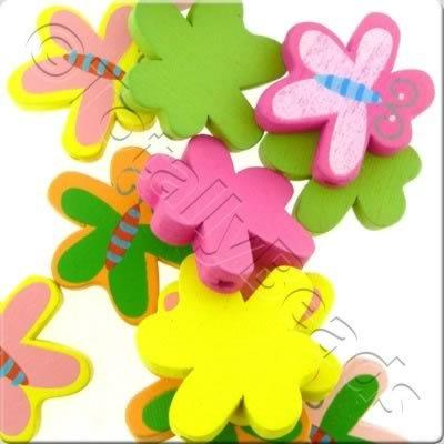 Childrens Wooden Bead - Butterfly