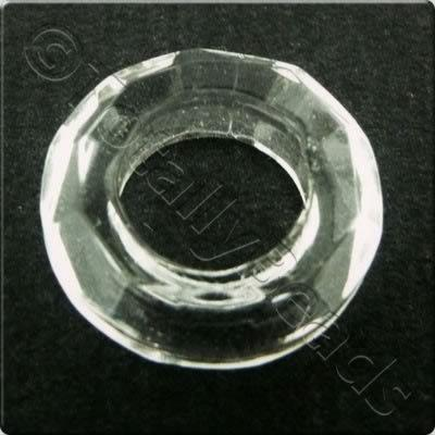 Crystal Pendant - Ring 15mm - Clear