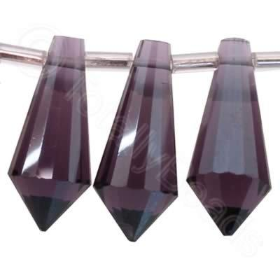 Crystal Point Drop 19mm - Purple