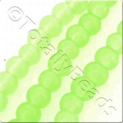 Glass Round - 4mm - Opaque Green