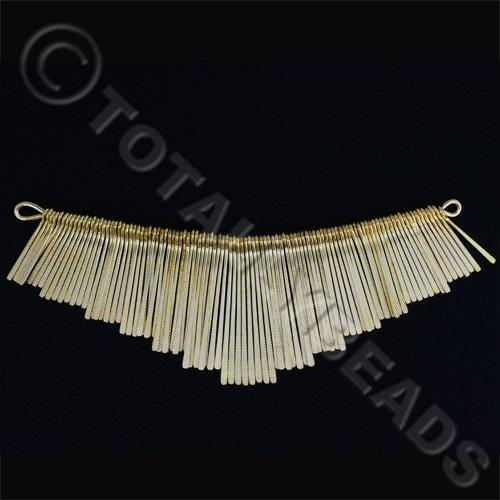Graduated Fan - Textured Gold 13cm