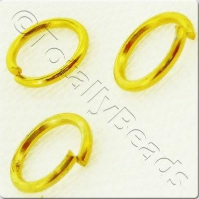 Jump Rings 6mm - Gold Plated