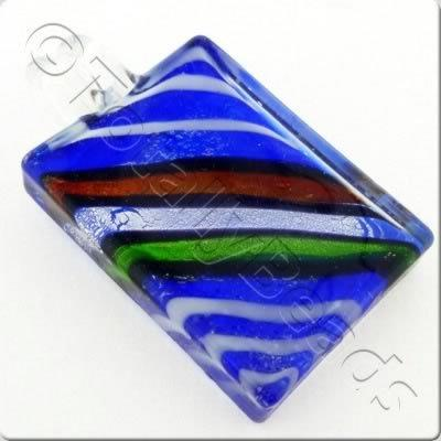 Lampwork Pendant - Rectangle 51mm - LPB46