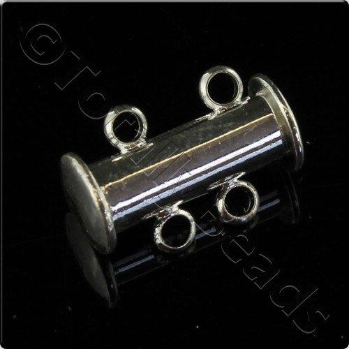 Sliding Magnetic Clasp 2 Strand - Silver Plated