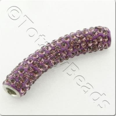 Shamballa Spacer Tube 40-50mm - Amethyst