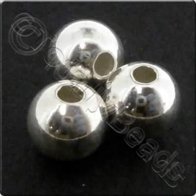 Sterling Silver Spacer Bead - 6mm - 3pcs