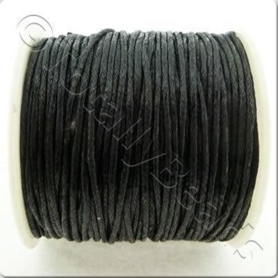 Wax Cotton Cord 1mm - Black