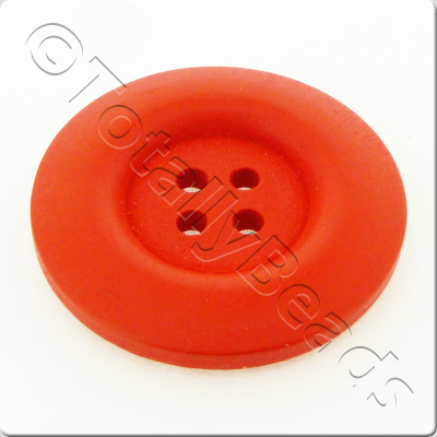 Wooden Button 30mm - Red