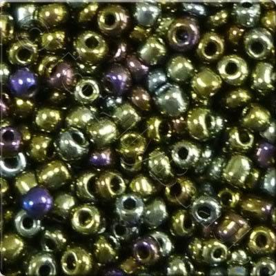 Seed Beads Opaque Rainbow  Iris - Size 8