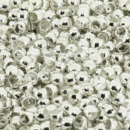 2mm Crimp Beads - Silver Plated 200pcs