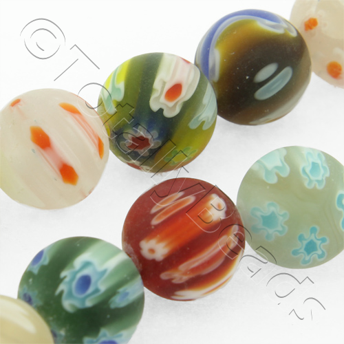 Millefiori - Round 10mm - Matt Finish Mixed