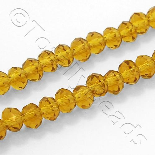 "Crystal Rondelle 3x4mm - Topaz 16"" String"