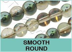 Smooth Round Crystal Beads