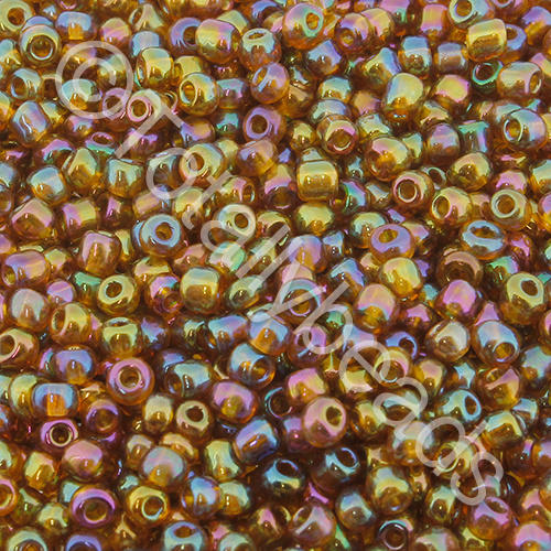 Seed Beads Transparent Rainbow  Brown - Size 8
