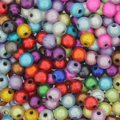 Miracle Beads - 6mm Round Mixed Colour