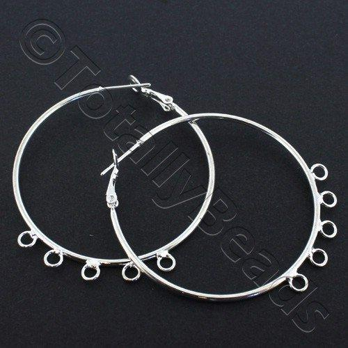 Loop Earring - 5 Loops 45mm - Silver Plated