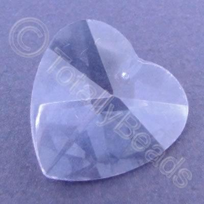 Glass Pendant Heart Lilac - 28mm