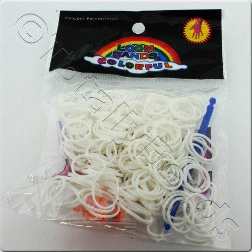 Loom Bands 300pcs - White