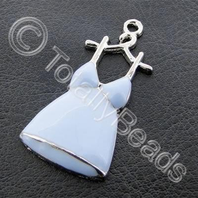 Metal Charm Turquoise Dress Hanger - 17x33mm