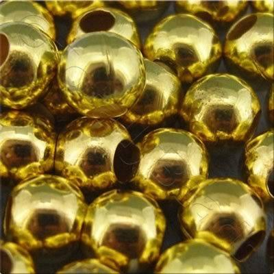 Spacer Beads - Gold Plated - 6mm