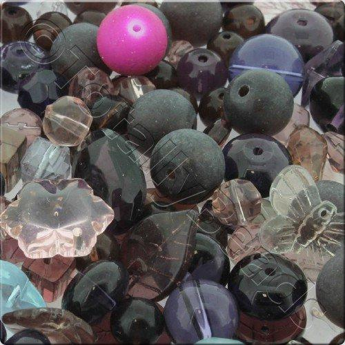 250g Glass Bead Mix - Purple