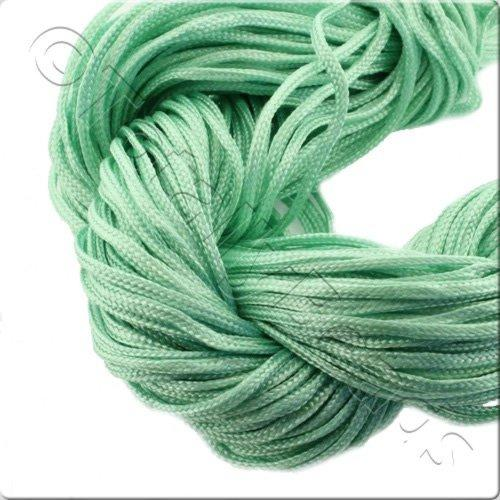 Rattail Cord 1mm Light Green - 10m