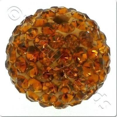 Crystal Ball Bead - 18mm Round - Smokey Topaz
