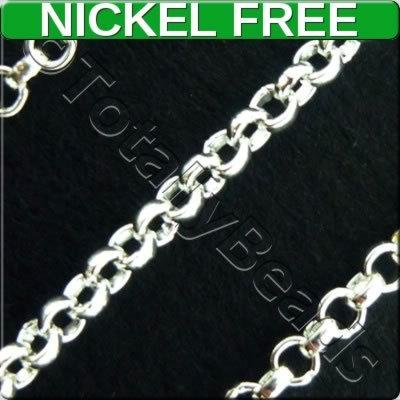 Chain Silver Plated - Rolo 2x2mm
