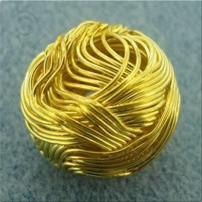 Multi Wire Bead - Round 20mm - Gold