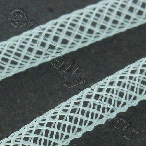 Nylon Mesh Tubing 4mm Aqua - 4m pack