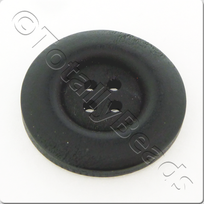 Wooden Button 30mm - Black