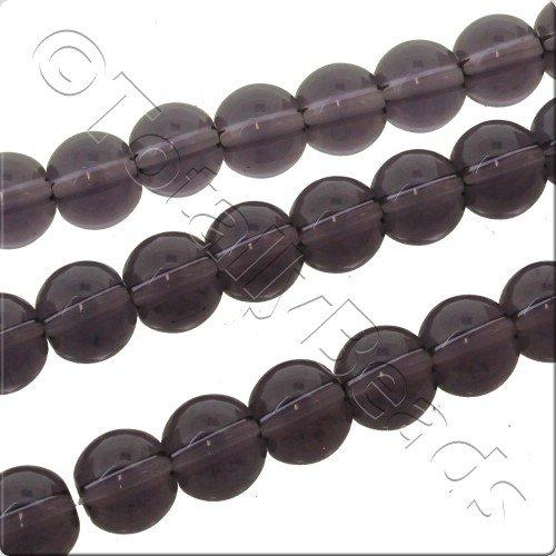 Smooth 4mm Round Crystal Beads - Purple