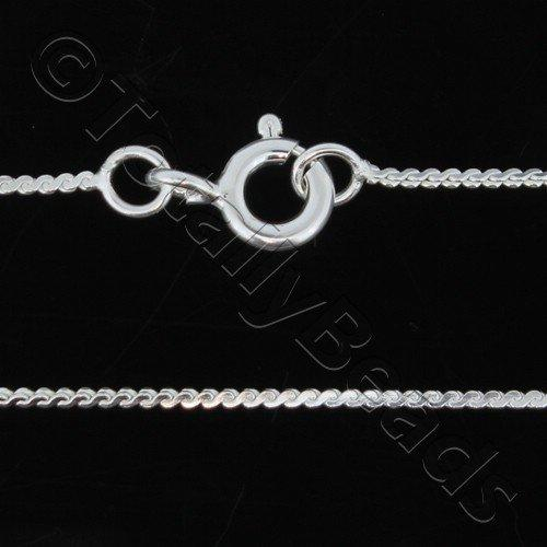 Sterling Silver 925 Chain Necklace S Weave 16 inch