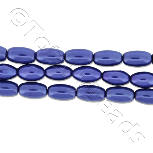 Glass Pearl Rice - Colbalt Blue