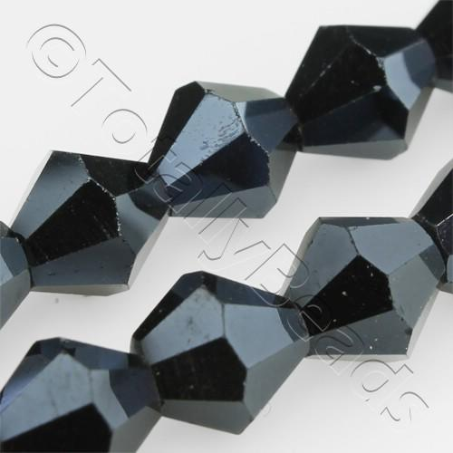 Crystal Bicone 8mm - Hematite