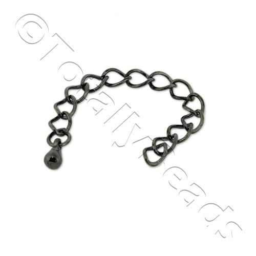 Extension Chain - Black Plated - 10 Pieces