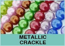 Metallic Crackle Glass Beads