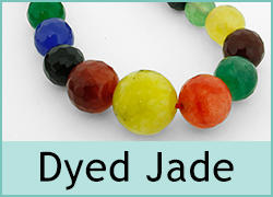 Dyed Jade Beads