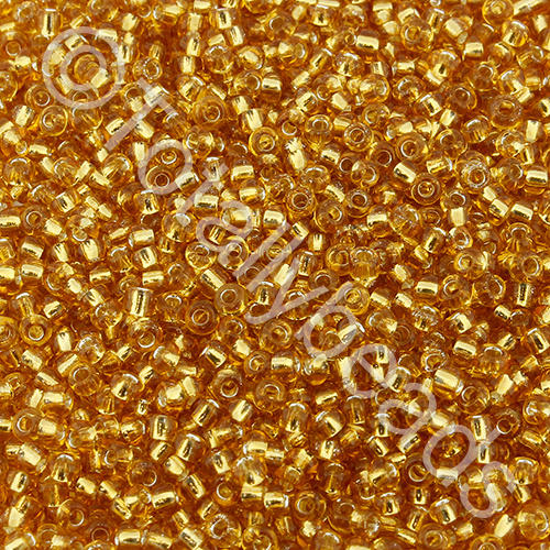 Seed Beads Silver Lined  Gold - Size 11