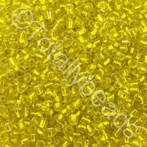 Seed Beads Silver Lined  Yellow - Size 11