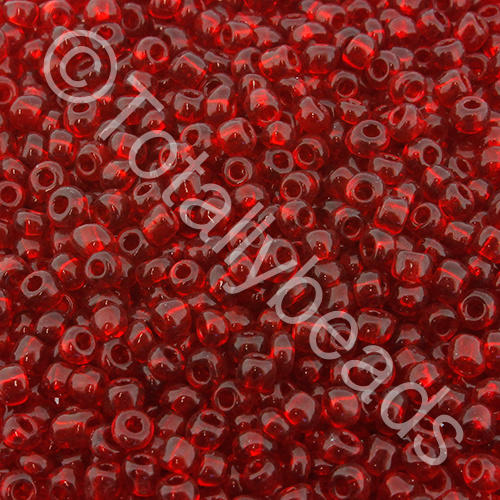 Seed Beads Transparent  Dark Red - Size 8