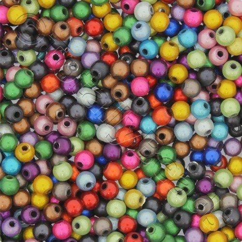 Miracle Beads - 4mm Round Mixed Colour