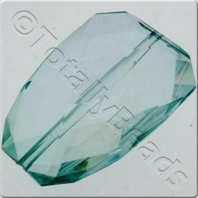 Acrylic Facet Rectangle 40mm - Teal