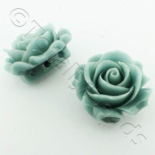 Acrylic Rose 35mm 3 Rows - Light Grey