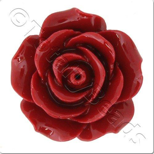 Acrylic Rose 25mm 2 Row - Dark Red