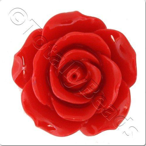Acrylic Rose 25mm 2 Row - Red