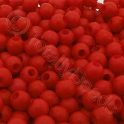 Acrylic Beads 6x5mm - Red