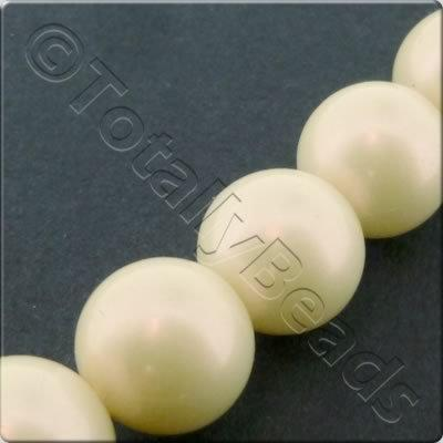 Acrylic Pearl - 12mm Round - Ivory Pink Shine