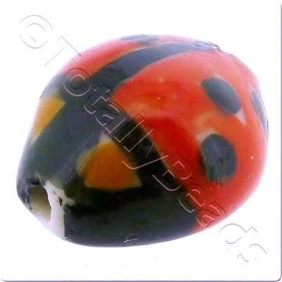 Ceramic Animal Bead - Ladybug